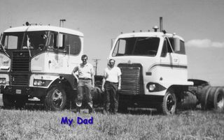 Dad and Bob with the rigs,