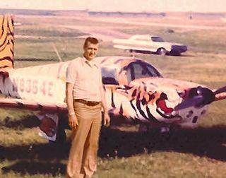 Ken Spangler at Spring City Airport, Waukesha, WI c.1972