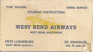 My Grandfather, Edmund Spangler's, biz card from around 1940.